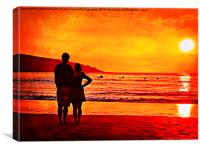 Together at Sunset, Canvas Print