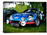 "The Alpine A110 ""Berlinette"", Canvas Print"