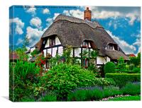 Quaint English Cottage, Canvas Print