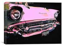 Candy Pink Chevrolet, Canvas Print