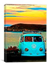 Iconic VW & Sunset., Canvas Print