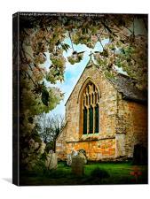 St Peter's Church, Dumbleton. , Canvas Print