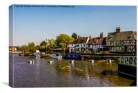 Tudor homes along River Avon.
