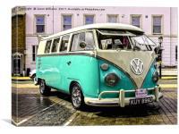 Split Screen VW Camper, Canvas Print