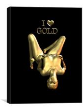 I Love Gold, Canvas Print