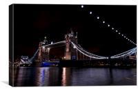 Tower Bridge by Night, Canvas Print