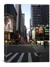 New York City At Twilight, Canvas Print
