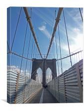 Brooklyn Bridge, New York, Canvas Print