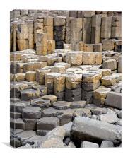 Basalt Stacks, The Giants Causeway, Canvas Print