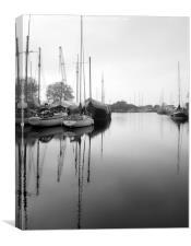 Boats at Heybridge, Essex, Canvas Print