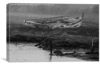 Shipwreck On Maldon Coast line, Canvas Print