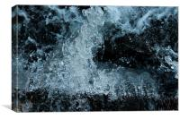 Flowing water, Canvas Print