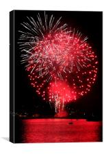 Firework in the Sound, Canvas Print