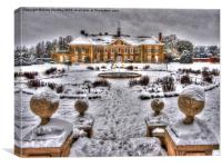 Reigate Priory in Winter, Canvas Print