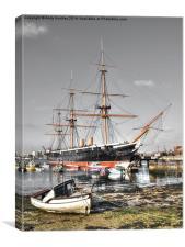 HMS Warrier, Canvas Print
