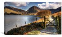Lake Buttermere Walk, Canvas Print