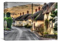 Thatched Street, Canvas Print