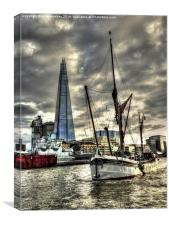Thames Barge Will, Canvas Print