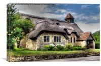 Thatched Church, Canvas Print