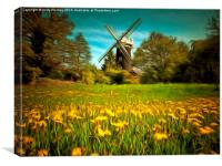 Wray Common Windmill , Canvas Print