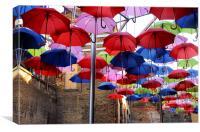 Umbrella Shade, Canvas Print