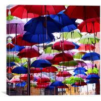 Umbrella Shade Square, Canvas Print
