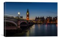 Westminster Bridge and Big Ben, London, Canvas Print