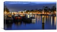 Amsterdam After Dark, Canvas Print