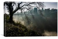 A Misty Clifton Suspension Bridge, Bristol, Canvas Print