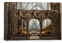 Through the Screen, Bristol Cathedral, Canvas Print