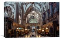The Quire or Choir of Bristol Cathedral, Canvas Print