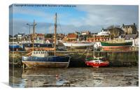 St Monan's Harbour, Fife, Scotland, Canvas Print