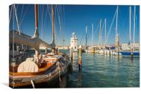Sailing Boats in Venice, Canvas Print