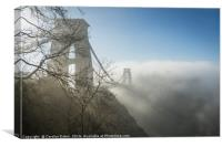 Clifton Suspension Bridge, Bristol in Winter, Canvas Print
