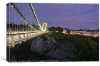 Clifton suspension Bridge at Night, Canvas Print