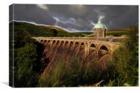 Craig Goch Dam, Canvas Print