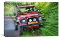 Land Rover Defender, Canvas Print