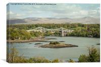 Menai suspension bridge, Canvas Print