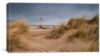 Talacre lighthouse, Canvas Print