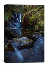 Carbost Waterfall., Canvas Print