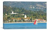 Christmas In Paradise - Santa Barbara California, Canvas Print