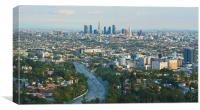 Los Angeles Skyline and Los Angeles Basin, Canvas Print