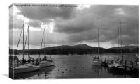 Boats on Windermere, Canvas Print