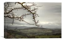 View over the Welsh Hills, Canvas Print