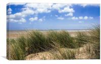 Sandy beach dunes British Coast, Canvas Print