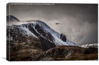 RAF Mountain Rescue in Snowdonia, Canvas Print