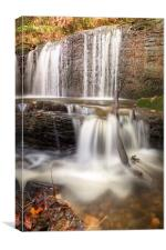 Stepped Waterfall Autumn Colours, Canvas Print