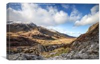Nant Ffrancon Valley, Snowdonia, Canvas Print