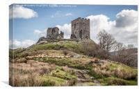 Dolwyddelan Castle a Hilltop Ruin, Canvas Print