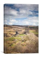 Looking Down on Dolwyddelan Castle, Canvas Print